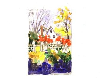 Autumn Trees Watercolor