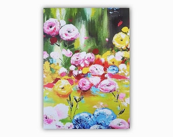 J. Greeting cards, floral card, art card