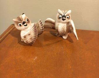 Vintage owl figurines