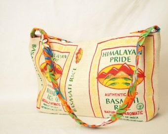 Burlap Bag-Burlap Purse-Burlap Tote-Burlap Tote Bag-Coffee Tote Bag