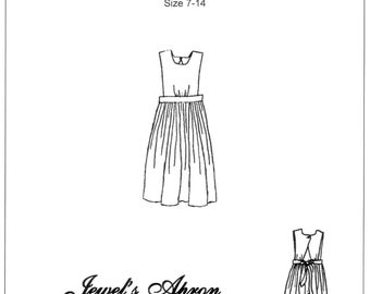 Girls Jewel's Apron Sewing Pattern - by The King's Daughters - #1002