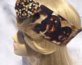 Puppy Love Pin Up Headband Headscarf