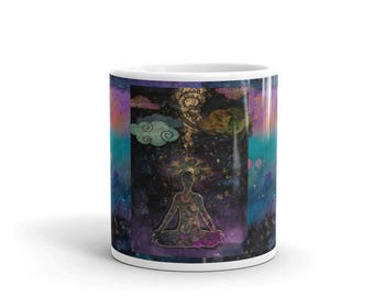 Tranquility- Meditative Art  11  oz. cup/ Mug - Tea/Coffee