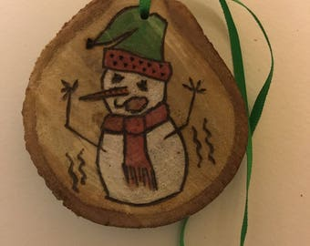 WHOA! Snowman with the Wiggles-Wood Ornament