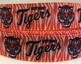 Detroit Tiger Pattern Dog Collar