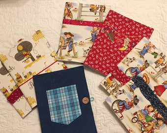 Fabric Covered Composition Book Cover, Notebook Cover, Notebook