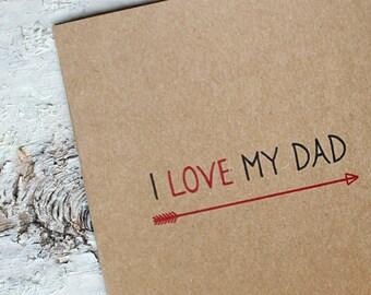 I Love My Dad Card
