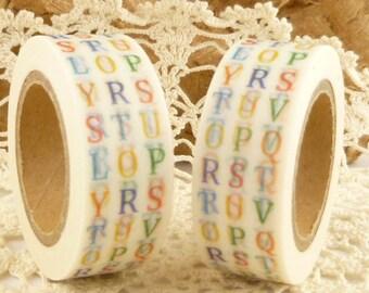 Multi Color Alphabet Capital Letters Washi Tape - KK1701