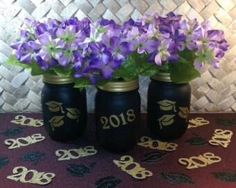 Mason Jar Graduation Party Decorations 2018/ Graduation Centerpiece 2018/ Rustic Party Decoration 2018/ Mason Jar Graduation Party 2018