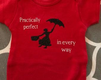 Mary Poppins onesie