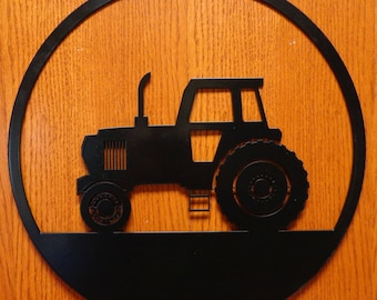 Tractor Circle Wall Art