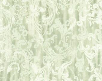Timeless Treasures Veranda Sage Damask C5292-SAGE, 100% Cotton, 44/45in