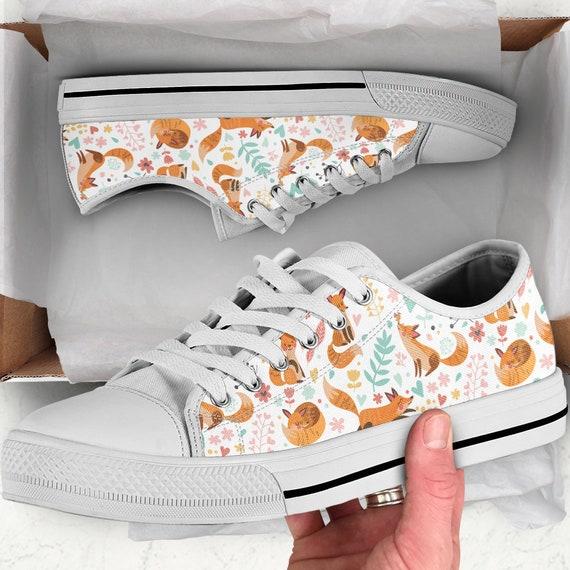 With Sneakers Women Pattern Fox Print Shoes Fox Shoes Fox Sneakers For Fox Gift Fox Fox Fox Fox Shoes Women Fox zEqP7I0