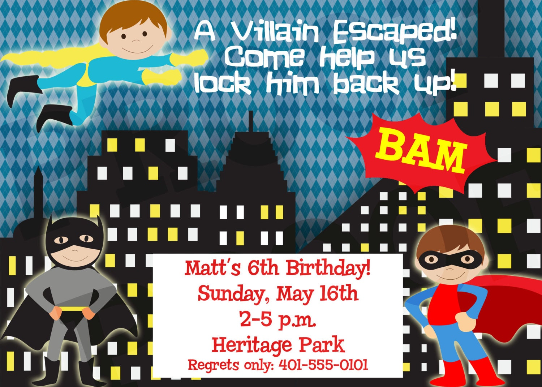 Superhelden Party Superheld Einladung Superheld Geburtstag