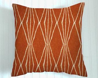 Burnt Orange Pillow Cover, Decorator Pillow,  Throw Pillow, Pillow Cover