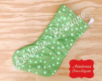 Candy Cane Christmas Stocking