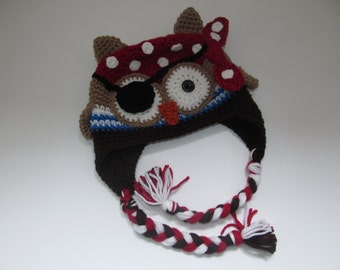 Owl Pirate Hat