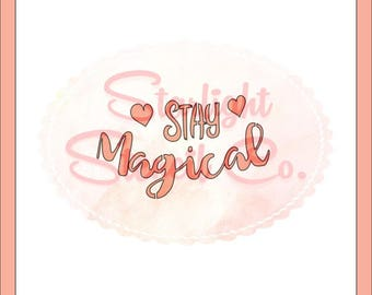 Restez cookie magique au pochoir - coeurs - magic citation - texte - - de gâteau pochoir - Saint Valentin - starlightstencilco
