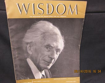 WISDOM Magazine of Knowledge for All America February 1957 - Bertrand Russell
