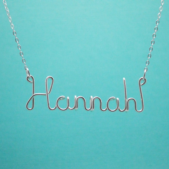 Custom Name Necklace Personalized Name Jewelry Wire Word