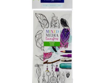 Feathers - Mixed Media Transfers - by Faber-Castell - Perfect for Bible Journaling!