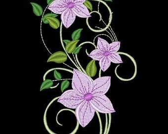 FANCY FLOWERS #6- 1 Machine Embroidery Design Instant Download 4x4 5x7 6x10 hoop (AzEB)