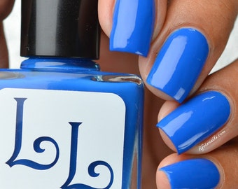June Sapphire by Lucky Lacquer, 5-Toxin Free Nail Polish
