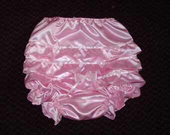 Pants Panties Undies Satin Adult Baby Sissy Transgender Cross Dresser
