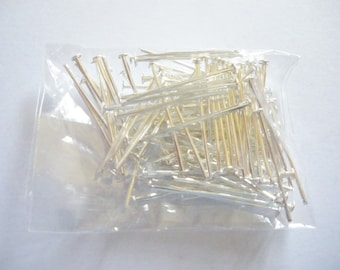 100 20 mm x 0.7 mm silver flat head nails