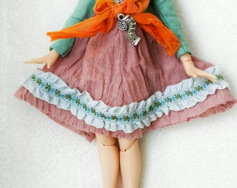 Cute Handmade Dress for 12'' Blythe Doll Clothes Outfit