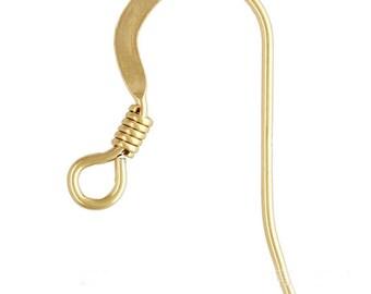 14k gold or sterling silver earring hooks ADD ON ITEM