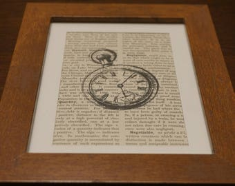 Vintage Framed Steampunk Encyclopedia Print, dictionary art, encyclopedia art, framed, prints