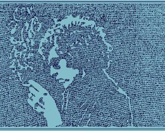 Bob Dylan Lyrics 15 x 27