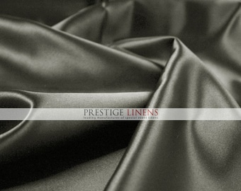 "Lamour Dull Matte Satin Fabric By The Yard - Grey - 60"" Polyester Wedding Dress - Craft - Sewing"
