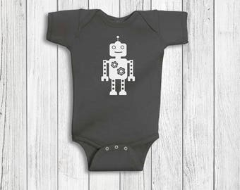 Baby Boy Clothes - Robot, Baby Boy, Robot Baby Clothes, Baby Boy Romper, Baby Shower Gift, Baby Boy Gift, Baby Outfits For Boys, Bodysuit