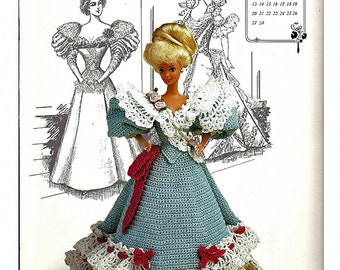 The Gibson Girl Collection of the Gay Nineties February Fashion Doll  Crochet Pattern  Annies Calendar Bed Doll Society 7702