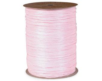 "Raffia Ribbon  Pink Gift Wrap  Bridal Shower  Wedding Decor Ribbon  Baby Shower  Favor Box Ribbon - 1/4"" - 100 yard spool"