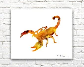 Scorpion Art Print -Abstract Watercolor Painting - Wall Decor
