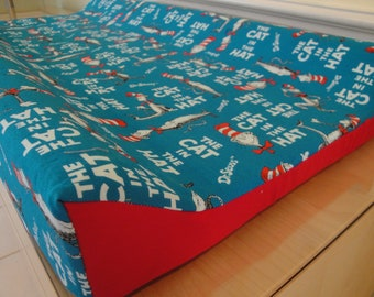 Changing Pad Cover - Featuring Dr. Seuss by Robert Kaufman, Cat in the Hat