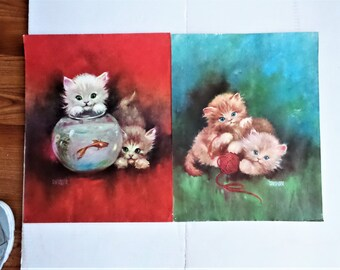 Florence Kroger Litho Prints of Kittens
