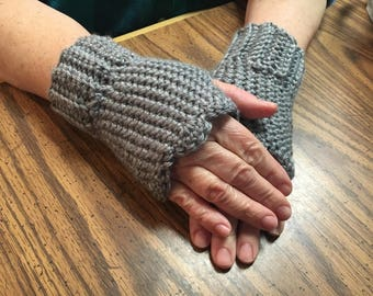 Fingerless Gloves, Gray Fingerless Gloves, Pink Fingerless Gloves