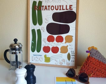 """Affiche design - """"La ratatouille"""""""