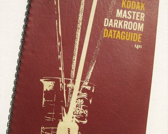 Kodak Master Darkroom Dataguide for black and white photography. Vintage cameras. 1970s. Fathers Day.