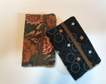 Fabric Business Card Holder. Gift Under 10, Credit Card Case, Slim Wallet, Card Case, Gift Card Holder, Credit Card Wallet