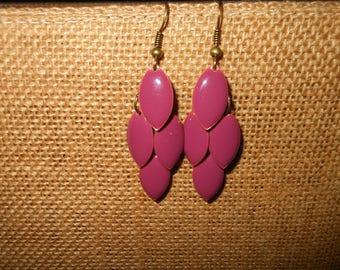 Purple cluster style earrings