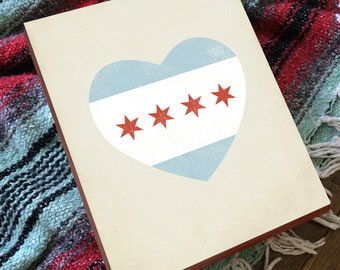 Chicago Flag Print - Chicago Flag Wood Sign - Chicago Flag - Chicago Flag Art - Chicago Artists