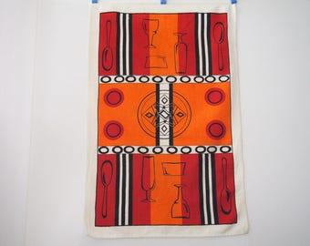 Mid Century Modern Vintage Tea Towel Kitchen Towel Bold and Beautiful