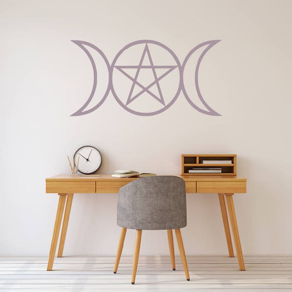 Wall Decal Wicca Decal Wiccan Stickers Wall Art Pagan Art