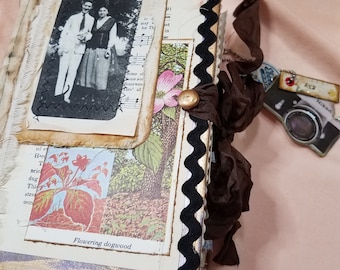 """Vintage style Junk Journal, Distressed, re-purposed book, """"Fly"""" 8"""" x 5.5"""" x 3"""""""