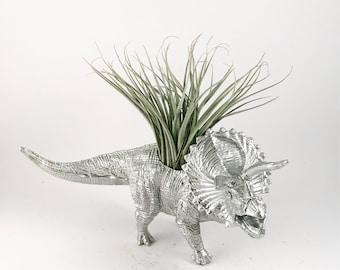 Dinosaur Planter, Succulent Planter, animal planter, air planter, Xenoceratops